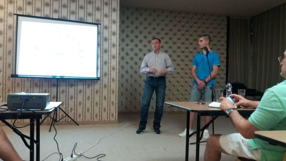 Чучулски на семинар по кикбокс