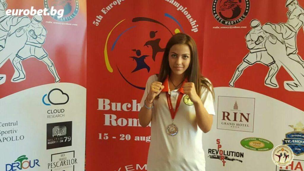 карина Петкова световна и европейска шампионка по Муай тай