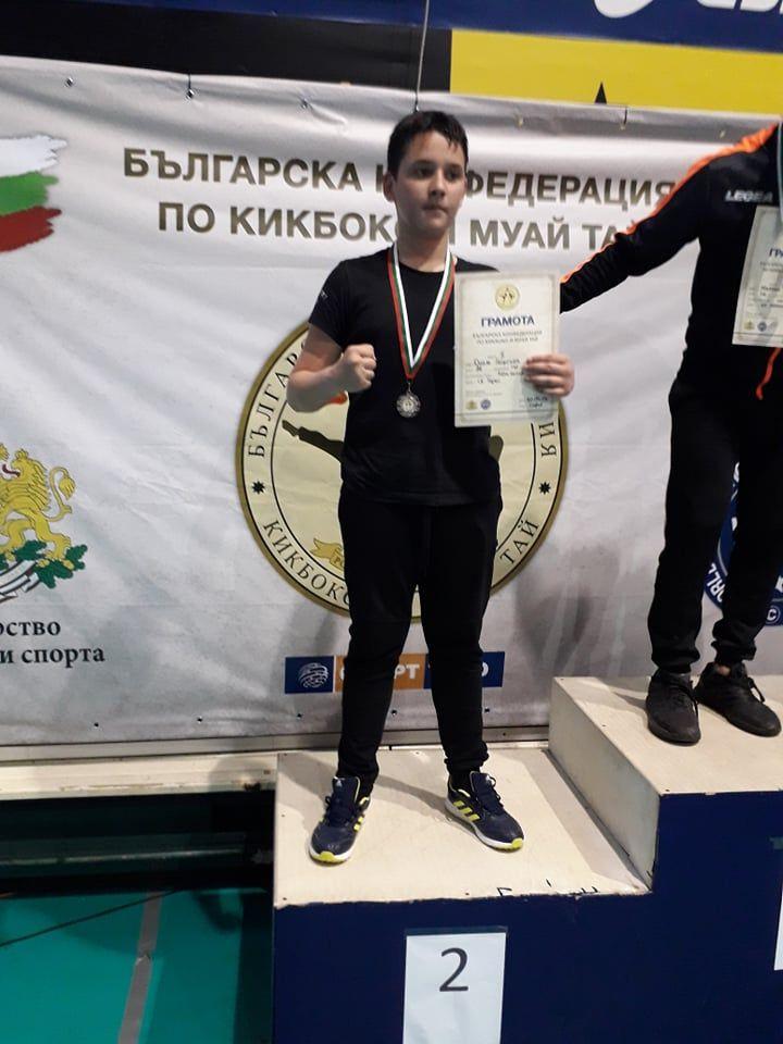 Дамян Георгиев - вице шампион на лайт контакт